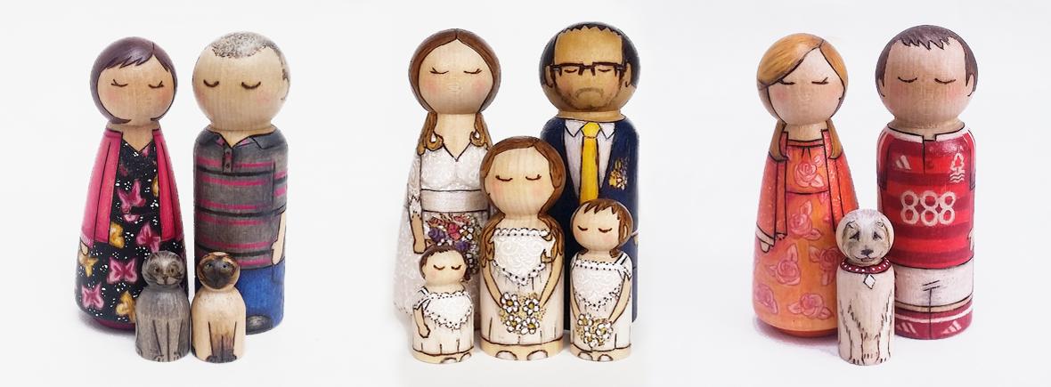 handmade peg dolls