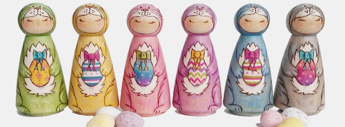 peg doll easter bunnies
