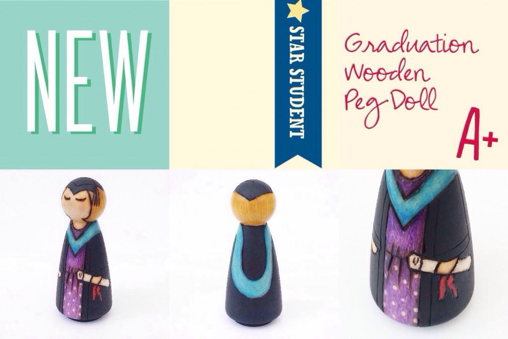 personalised graduation peg doll gift
