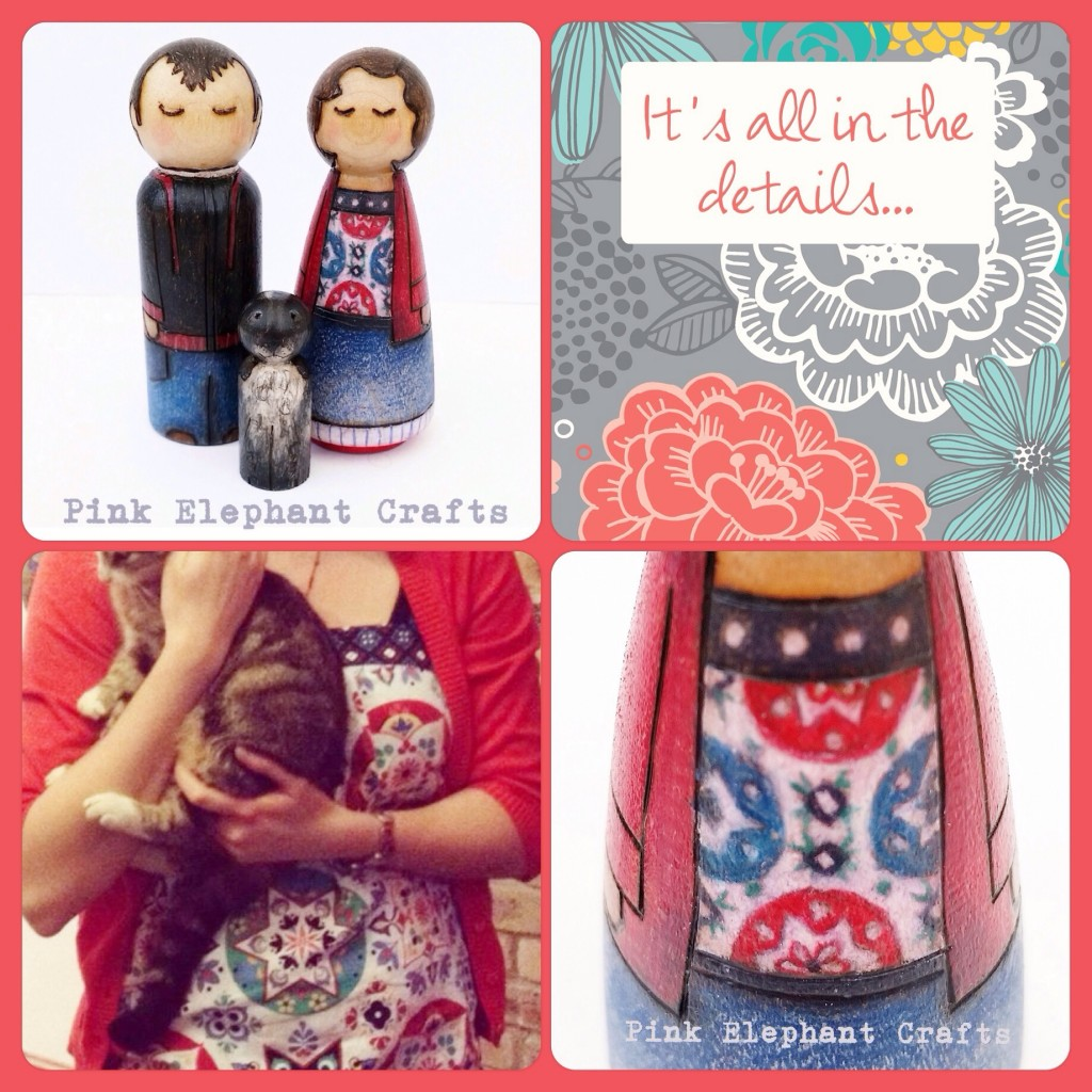 Personalised peg doll couple gift set 2