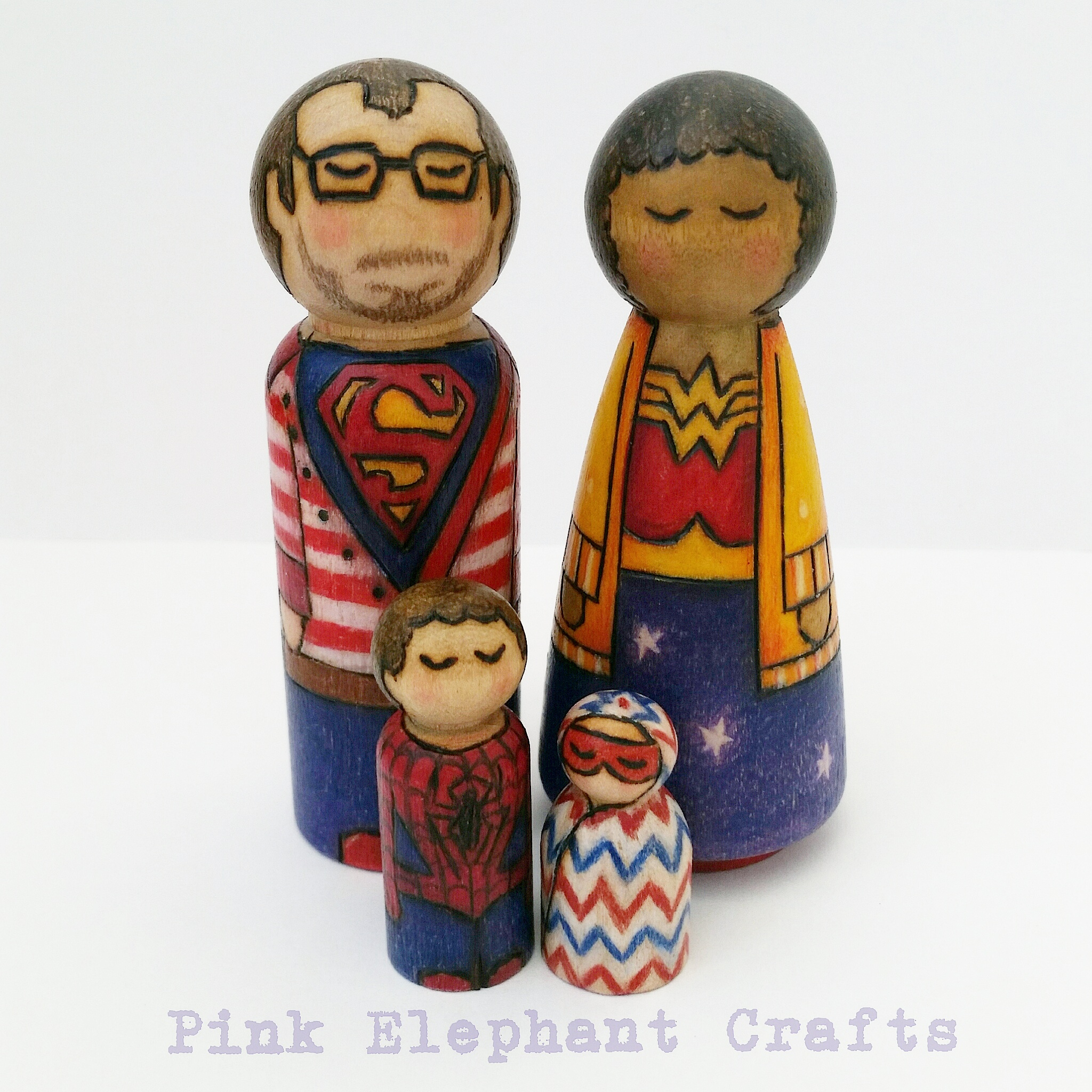 super hero peg dolls