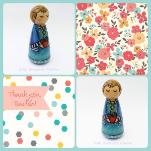 Teacher gift peg doll