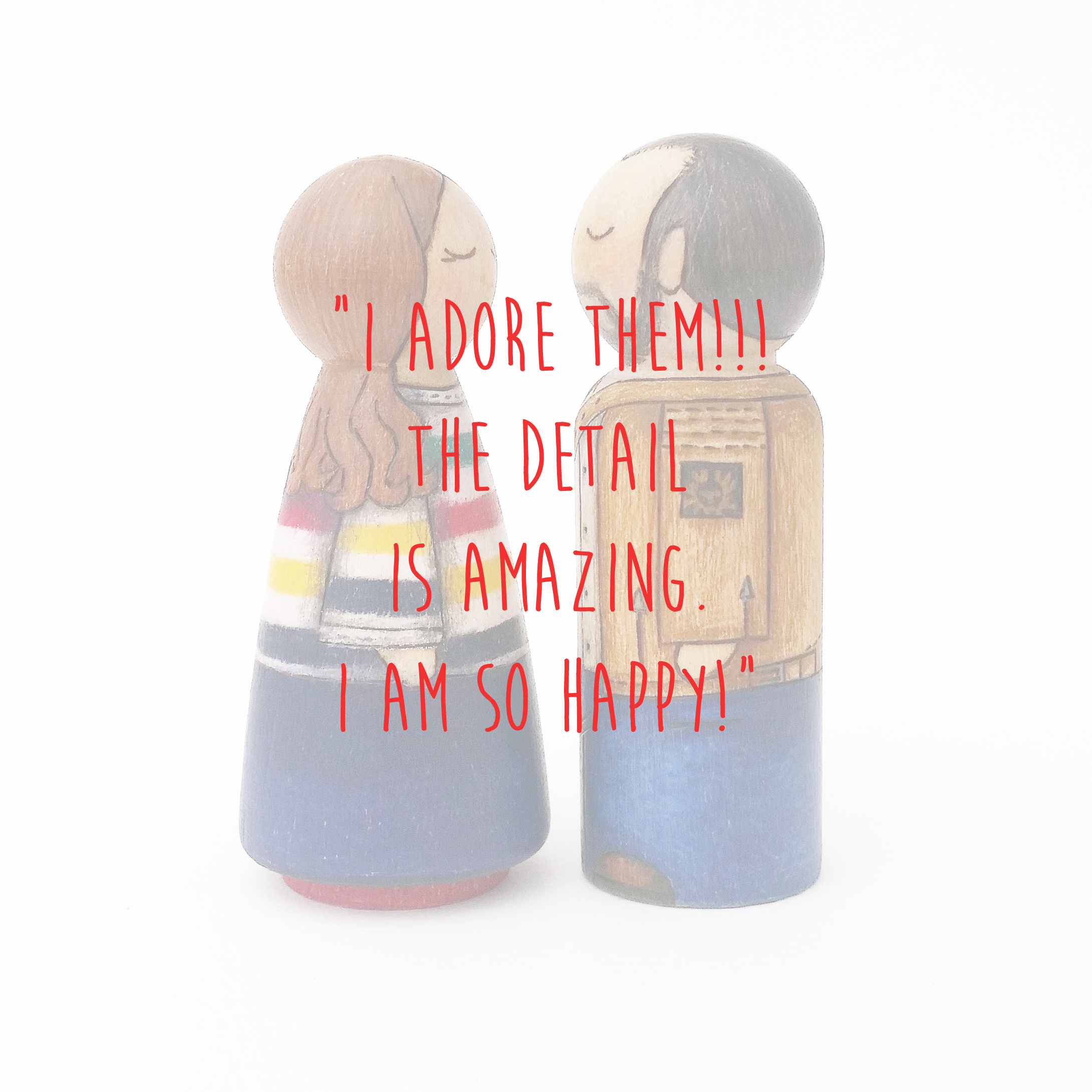 modern peg doll couple