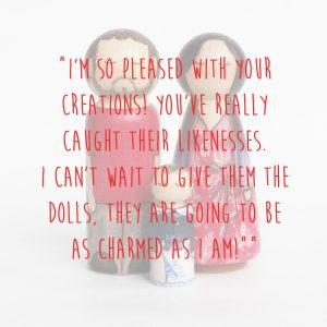 peg doll couple with baby