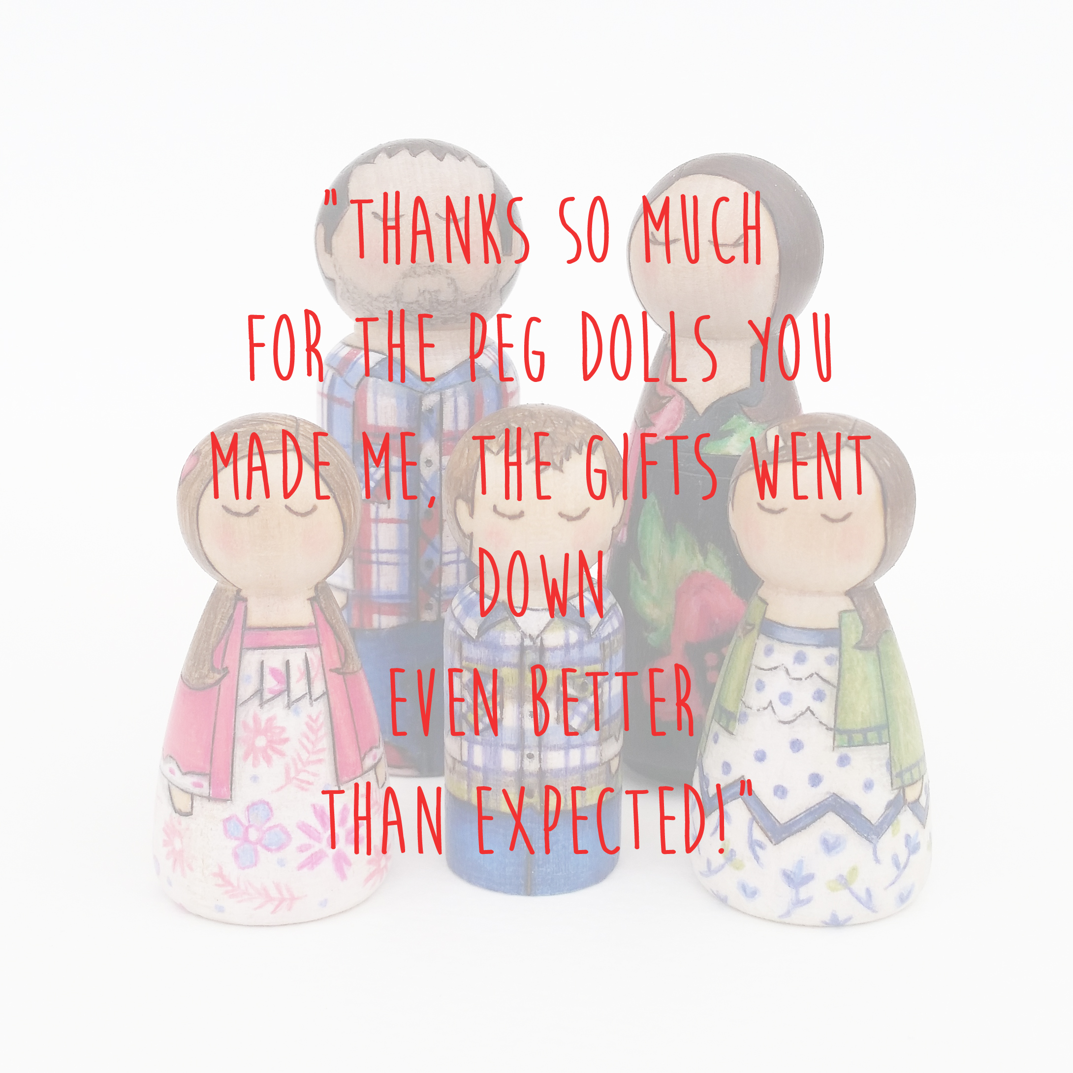 peg doll family set