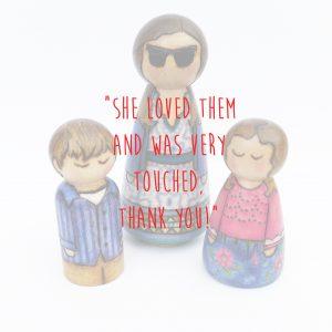 mum and children peg doll gift