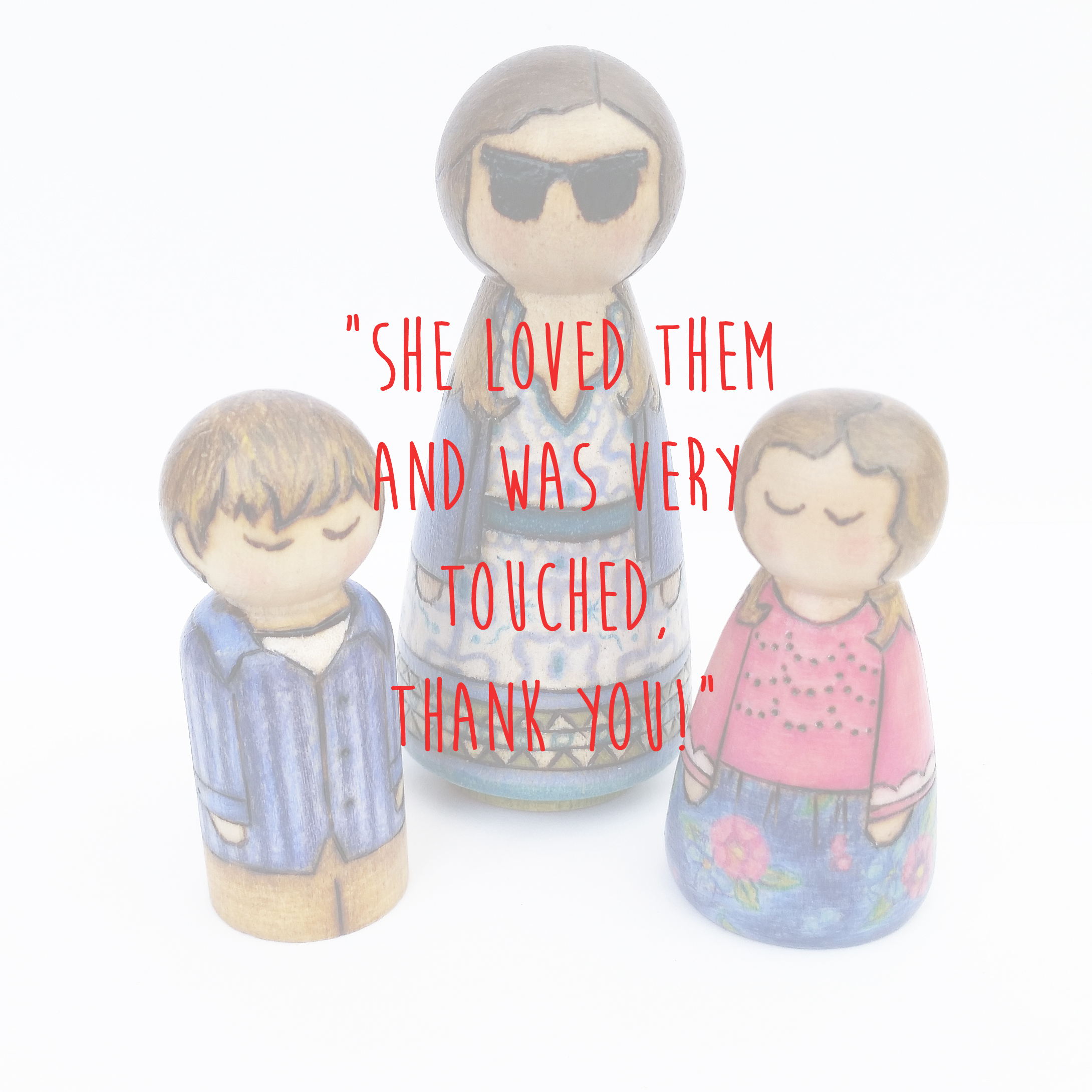 mum and children peg doll gift