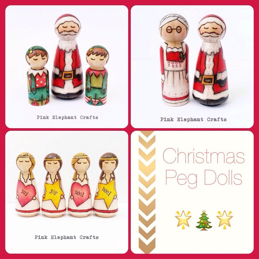 Christmas peg dolls