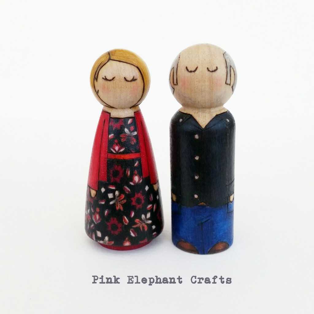 personalised Valentines gift pegdolls couple