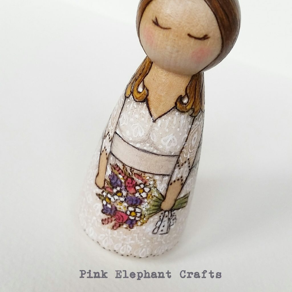 bride peg doll