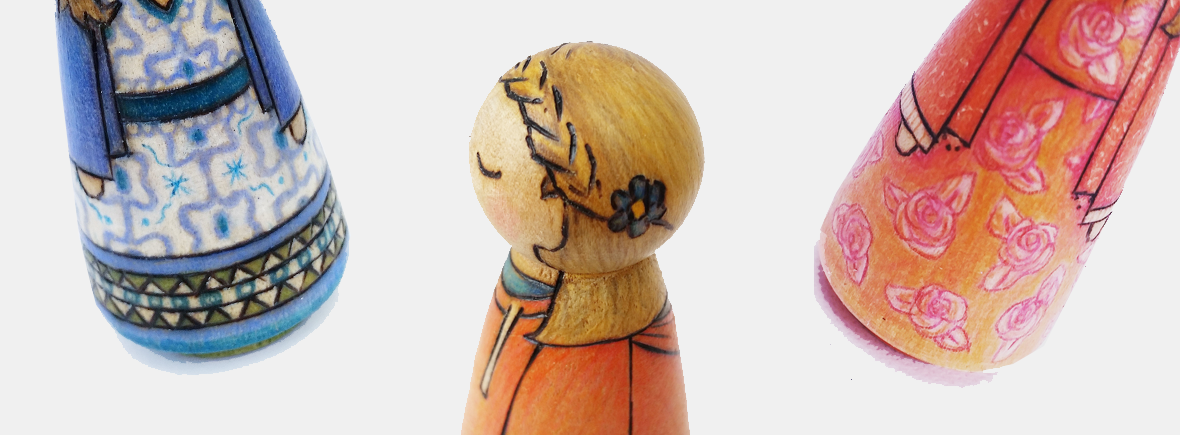 peg dolls peg doll handmade gift uk