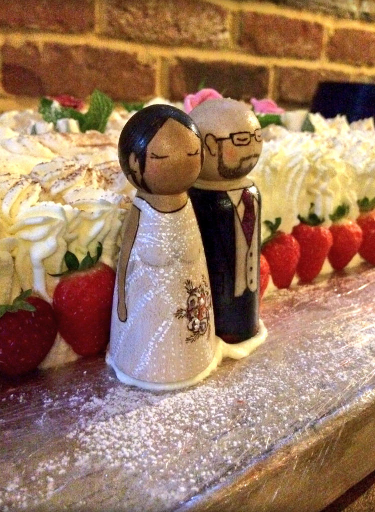 wedding cake topper peg dolls personalised handmade