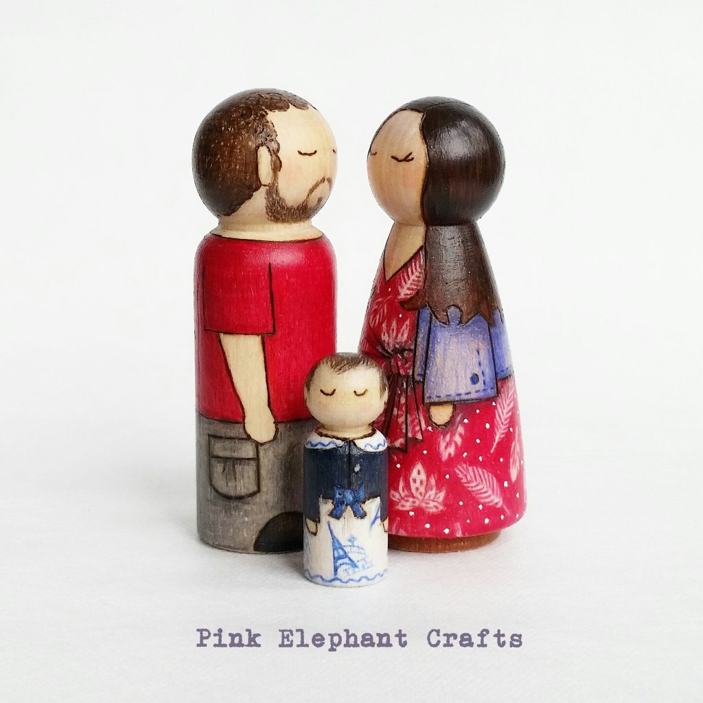 valentines day peg doll set