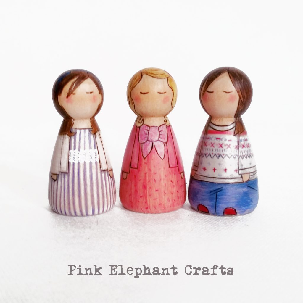 wooden peg dolls. cake topper, cakes, wooden, dolls, custom peg dolls, bespoke peg dolls