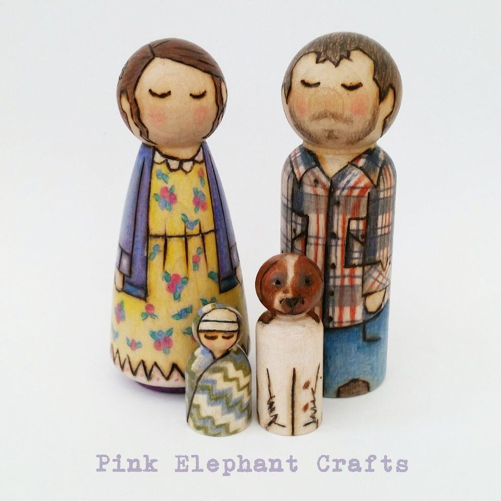 wooden peg dolls. cake topper, cakes, wooden, dolls, custom peg dolls, bespoke peg dolls