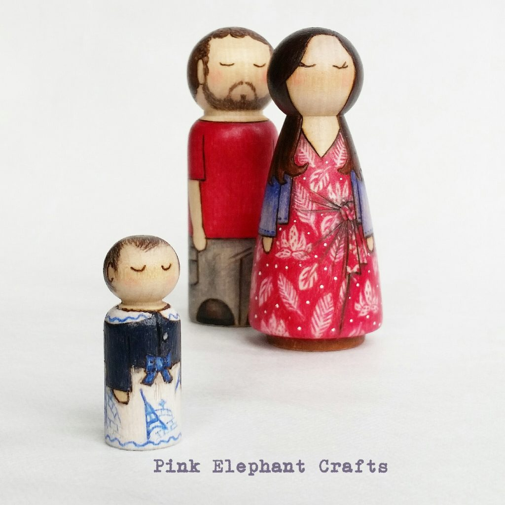 valentines gift peg doll family