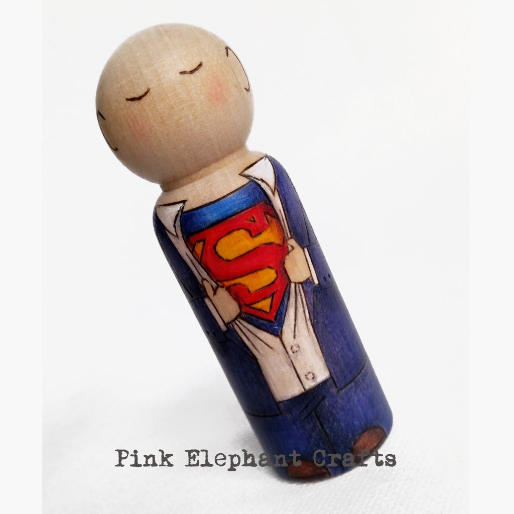 superhero peg doll gift for men