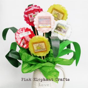 Quick and easy tutorial for DIY Mothers Day wax melt bouquet