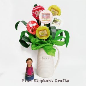 peg doll with diy yankee candle bouquet tutorial