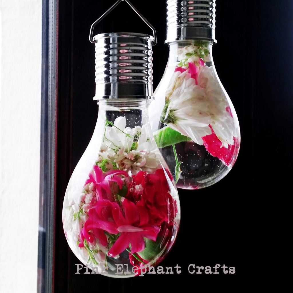 DIY light bulb hanging vase for mothers day