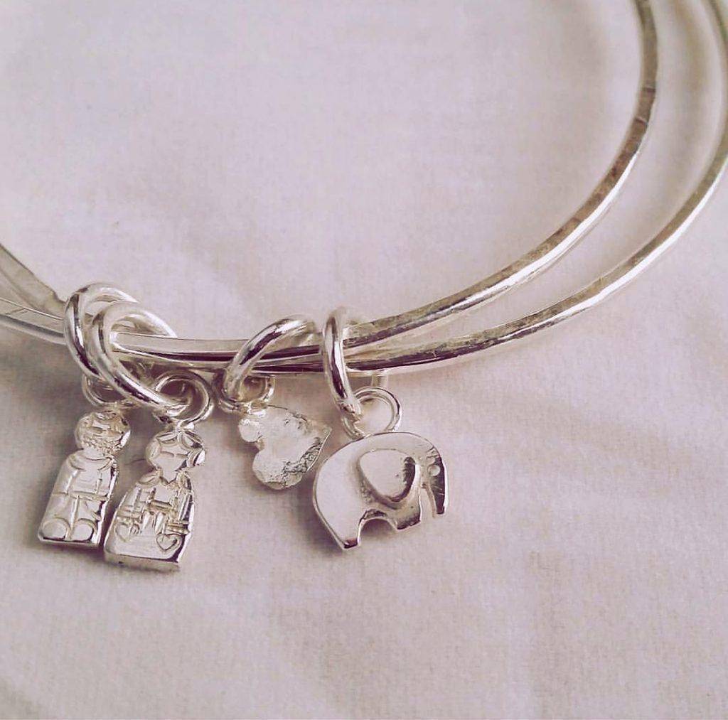 peg doll silver charms