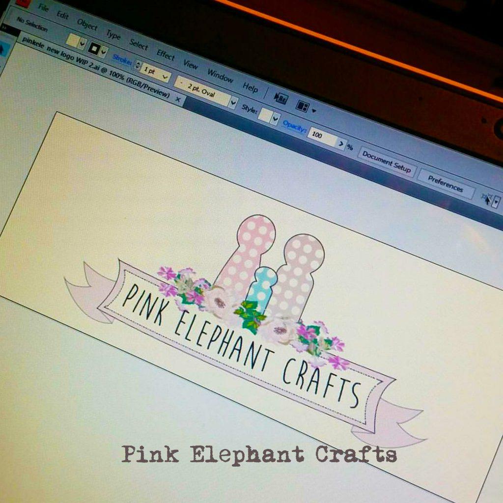 pink elephant crafts peg dolls logo