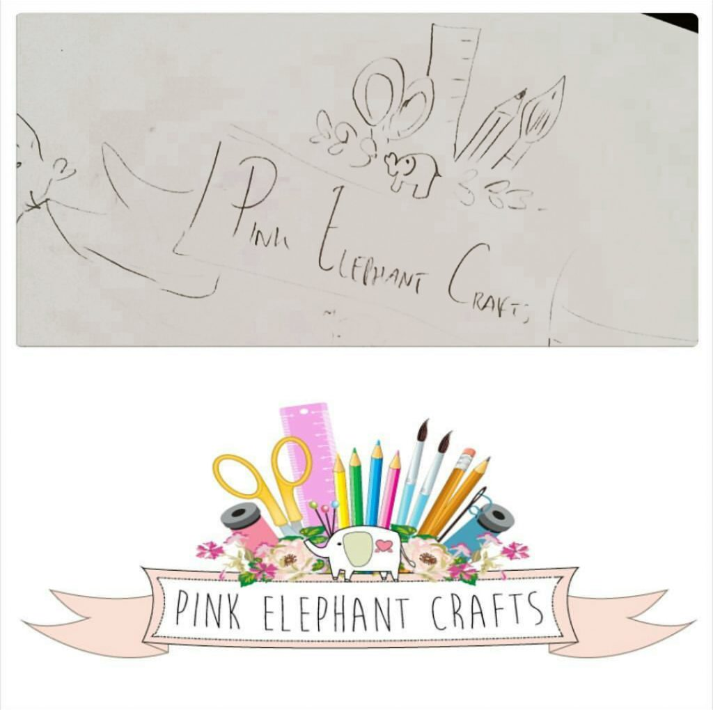 pink elephant crafts peg dolls logo
