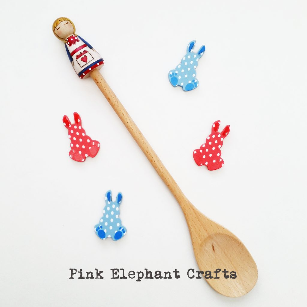 Peg doll spoon topper Easter Gift