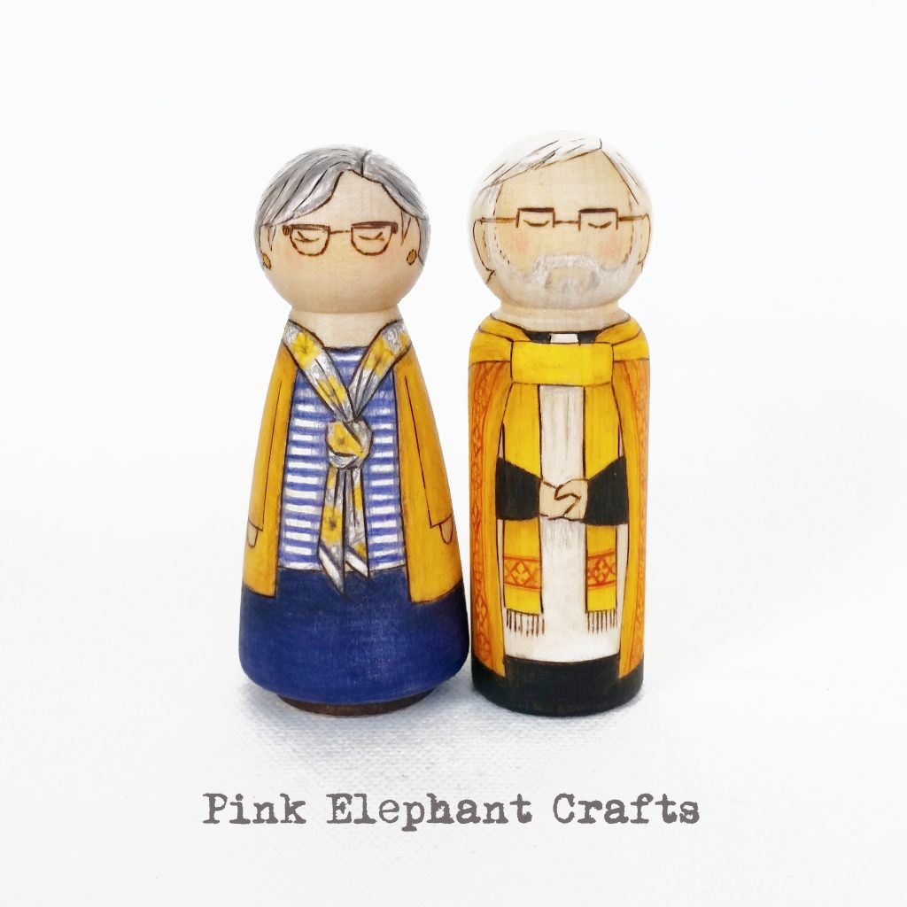 vicar peg doll, peg doll grandparents, grandparents day peg dolls, grandparents day