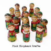 Girl Elves, christmas elves, christmas peg dolls,