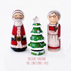 Rocking around the christmas tree, CHristmas card, rocking christmas card, fun christmas card,