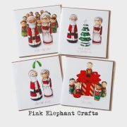 christmas cards, peg doll christmas cards, unique christmas cards, Cheeky Elves Christmas Card