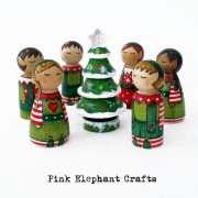 boy elves, elf peg dolls, christmas peg dolls