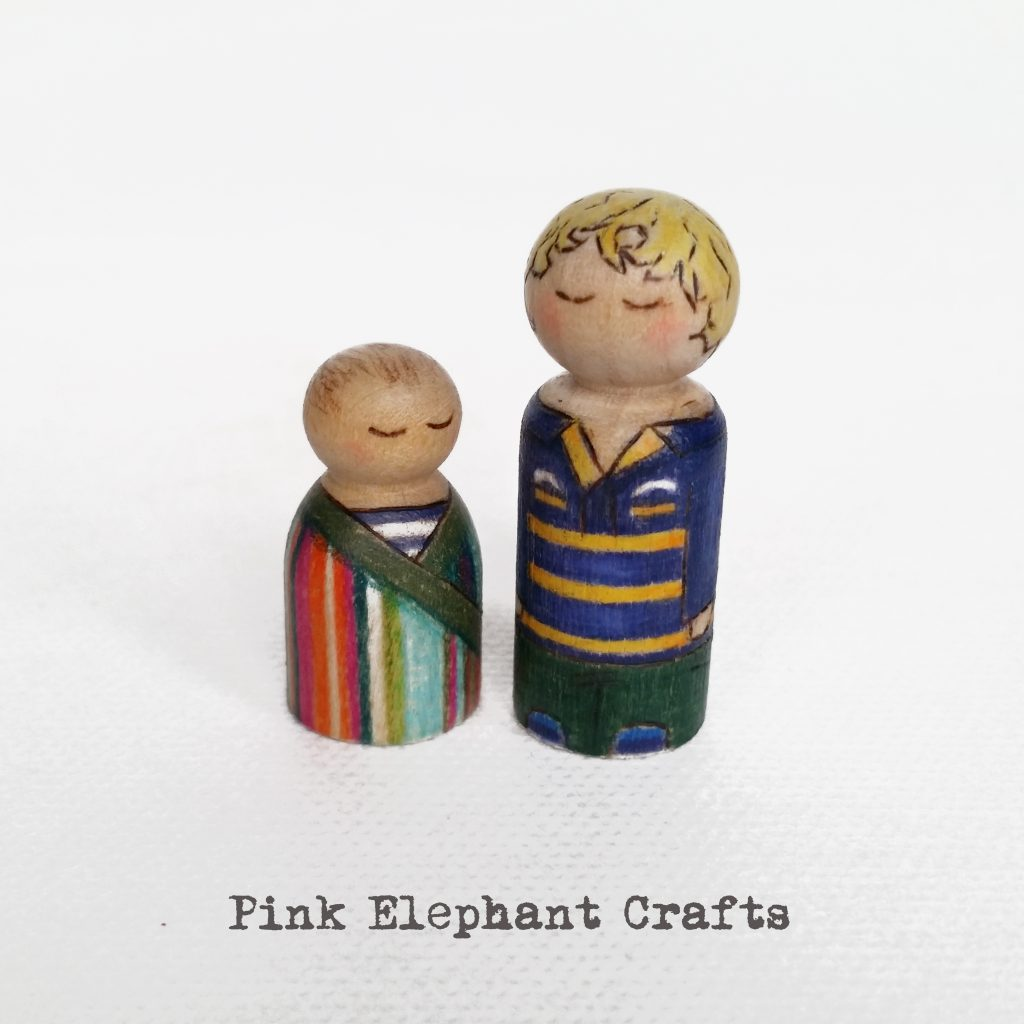 personalised child peg doll
