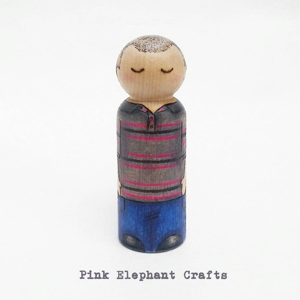 Grandparents Day Peg Dolls, granddad present, grandpa peg doll
