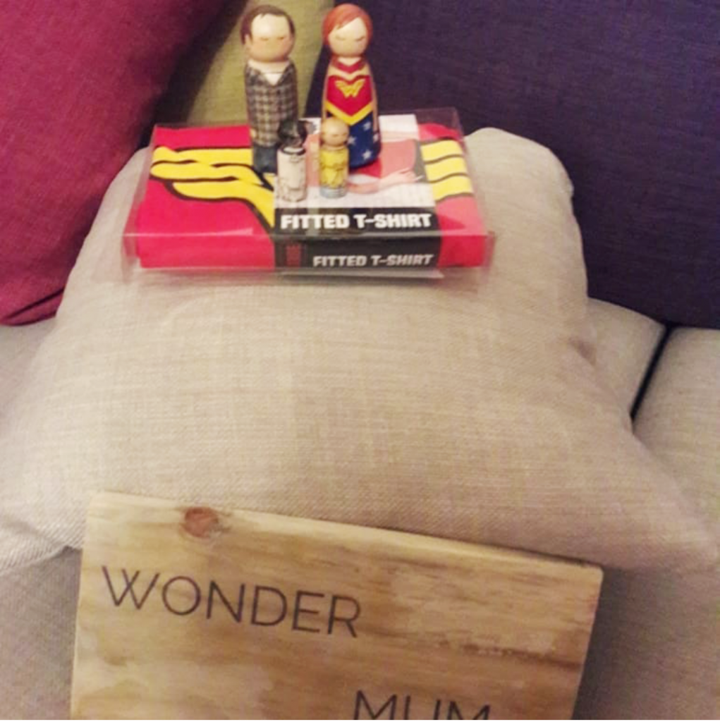 wonder mum, wonderwoman, mothersday, proposal, personalised peg doll