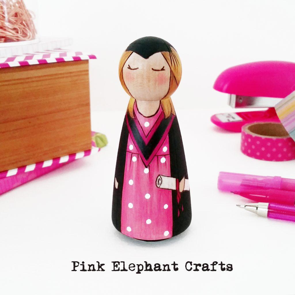 personalised graduation gift, graduation peg doll, graduate gift, graduation