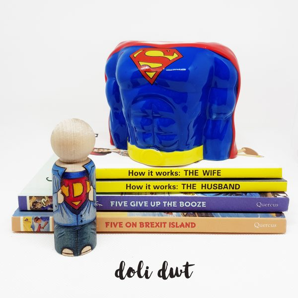 fathers day gift, gifts for dad, gifts for him, gift for husband, anniversary gift, wedding gift, superhero gifts, personalised peg doll