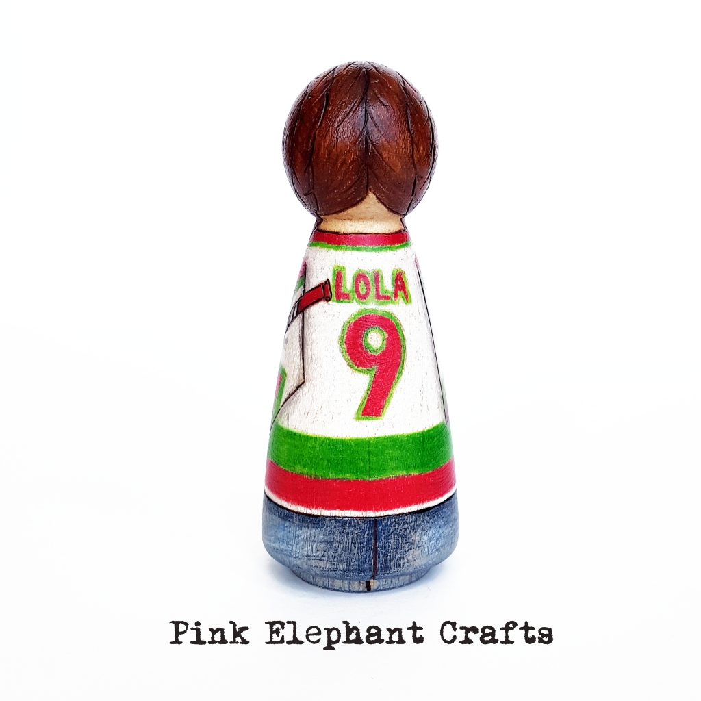 Ice Hockey Fan Peg Doll
