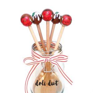 christmas gift, handmade bauble, christmas decoration, robins, robin spoon, christmas robin