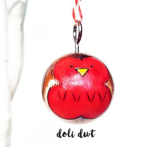 handmade bauble, christmas decoration, robins, robin bauble, christmas robin