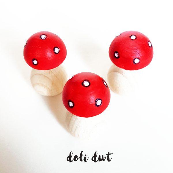 toadstool, mushroom, tiny toadstool, wooden toadstool, Christmas peg doll