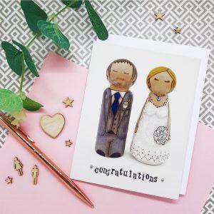 wedding card, bride and groom card, greeting card