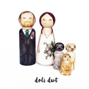 peg doll cake topper