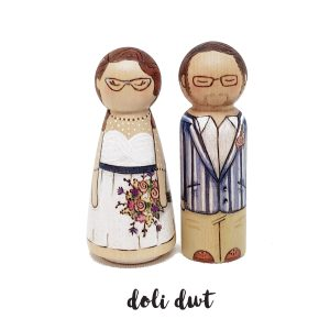 cake topper peg dolls