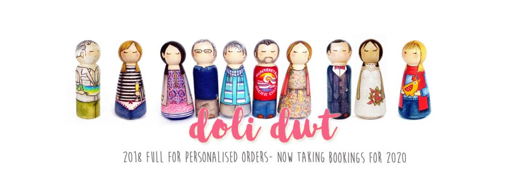 personalised peg doll, peg dolls, unique gift, personalised gift, made in wales