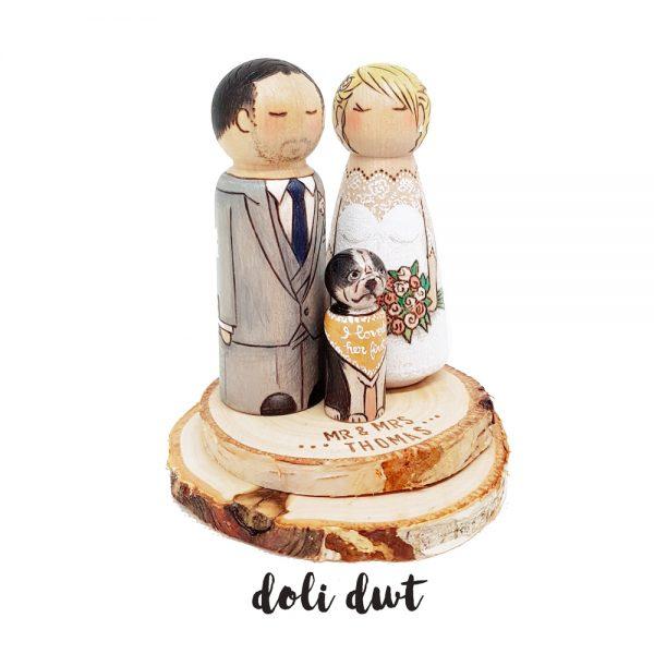 wood slice, rustic wood slice, wedding cake topper, peronslaised wedding cake topper, round wood slice