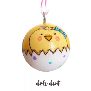 Easter chick bauble, Easter gift without chocolate, Easter tree decoration