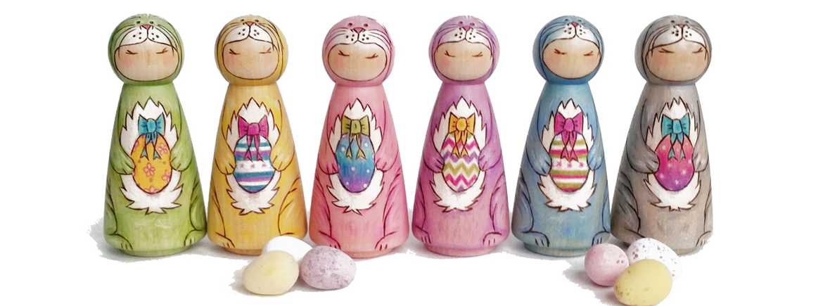 easter decor, easter ddecorations spring decor, personalised peg dolls, wedding cake toppers