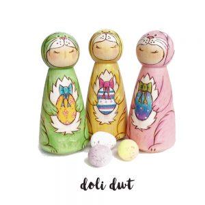 Easter Bunny Peg Dolls